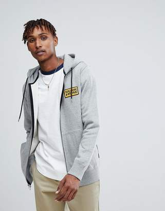 Volcom Zip Through Hoodie With Logo In Gray