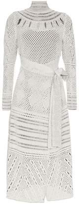 Proenza Schouler white crochet wrap over dress