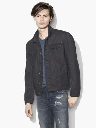 John Varvatos Coated Trucker Jacket