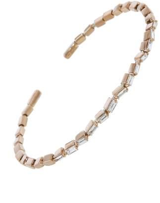 Suzanne Kalan Horizontal Baguette Diamond Firework Bangle Bracelet - Rose Gold