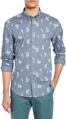 Club Monaco Country Floral Slim Fit Sport Shirt
