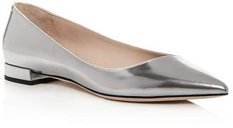 Giorgio Armani Women's Leather Pointed Toe Ballet Flats