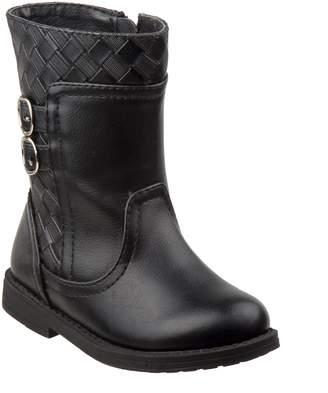 Laura Ashley Basket Weave Buckle Boot