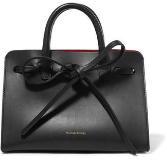 Mansur Gavriel Sun Mini Mini Leather Tote - Black