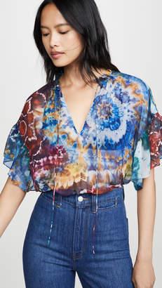 Alice + Olivia Julius Shirt Ruffle Sleeve Tunic