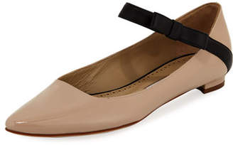 Manolo Blahnik Immaculada Leather Mary Jane Flat