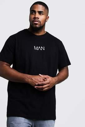 boohoo Big And Tall Long Line Original MAN T-Shirt