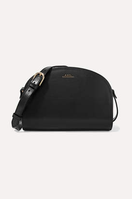 A.P.C. Demi-lune Leather Shoulder Bag - Black