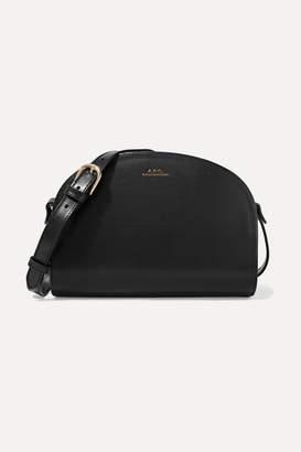 A.P.C. Demi-lune Leather Shoulder Bag - Black
