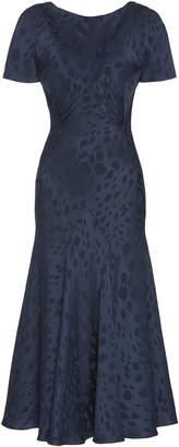 Zac Posen Novelty Satin Back Crepe Printed Dress