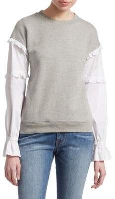 Derek Lam 10 Crosby Long-Sleeve Poplin Sweatshirt