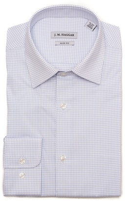 Haggar Men's Motion Ease Collar Slim-Fit Performance Stretch Dress Shirt
