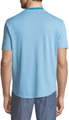 Original Penguin Men's Jacquard-Stripe Henley T-Shirt