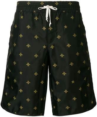 Gucci Bee and Stars swim shorts