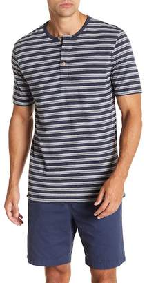 Weatherproof Short Sleeve Stripe Henley