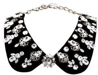 Dolce & Gabbana Crystal & Velvet Collar Necklace