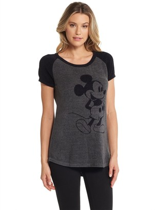 Barefoot Dreams Classic Disney Mickey Mouse Women's Raglan Te