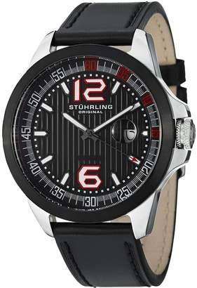 Stuhrling Original Men's 175C.332D51 Octane Grand Concorso Swiss Quartz Date Leather Strap Watch
