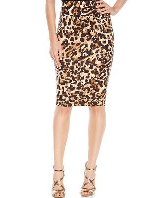 Thalia Sodi Animal-Print Scuba Pencil Skirt $49.50 thestylecure.com