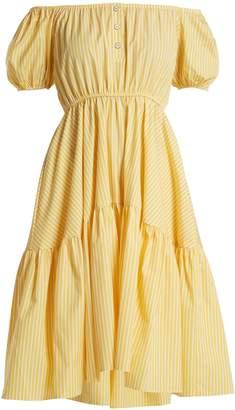 Caroline Constas Bardot Flounce dress
