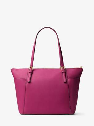 MICHAEL Michael Kors Jet Set Large Top-Zip Saffiano Leather Tote