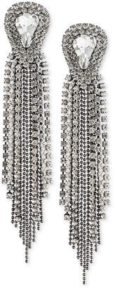ABS by Allen Schwartz Two-Tone Crystal & Ball Chain Fringe Drop Earrings