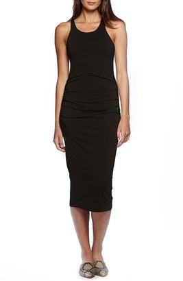 Michael Stars Ruched Side Racerback Midi Dress $88 thestylecure.com