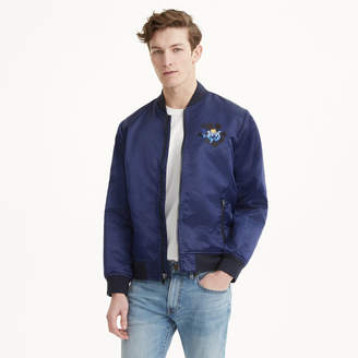 Club Monaco Embroidered Floral Bomber