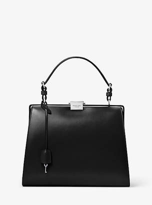 Michael Kors Simone Calf Leather Top-Handle Bag