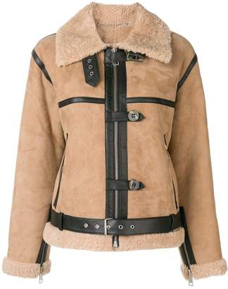 Victoria Beckham Victoria shearling fitted jacket