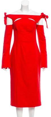 Rebecca Vallance Long Sleeve Midi Dress