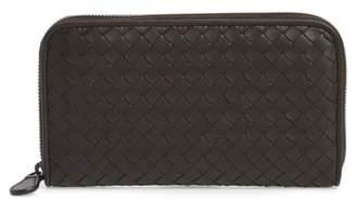 Bottega Veneta Leather Zip Around Wallet