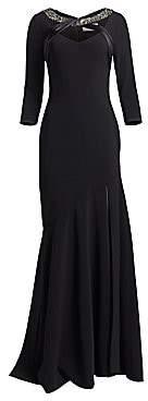 Theia Women's Crepe Mermaid Gown