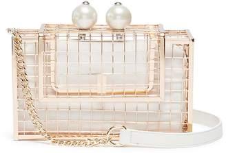 Cecilia Ma 'Pearl Cage' brass clutch