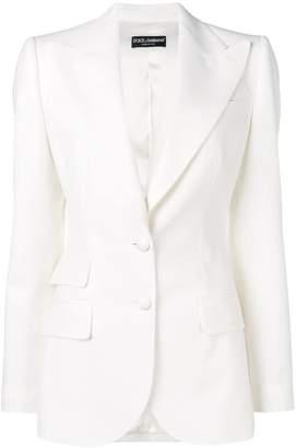 Dolce & Gabbana stitching details fitted blazer