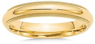 Bloomingdale's 14K Yellow Gold 4mm Milgrain Comfort Fit Wedding Band - 100% Exclusive