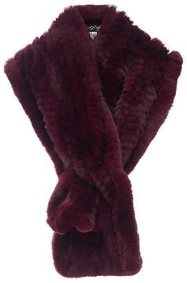 Fur 5 Eight Loop Scarf in Burgundy