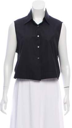Alaia Sleeveless Button-Up Top