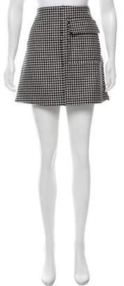 J.W.Anderson Wool Houndstooth Mini Skirt