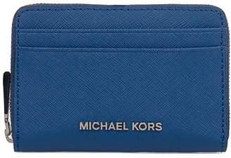 Michael Kors Elettric Blue Money Pieces Saffiano Leather Card Holder
