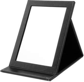 SunniMix PU Leather Travel Portable Foldable Mirror Makeup Mirror with Adjustable Stand