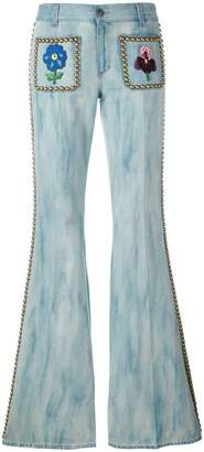 Gucci studded flared jeans