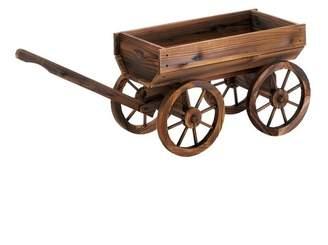 Millwood Pines Testerman Wine Wagon Wood Wheelbarrow Planter