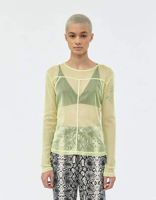 Which We Want Mecca Mesh Tee in Soft Lime