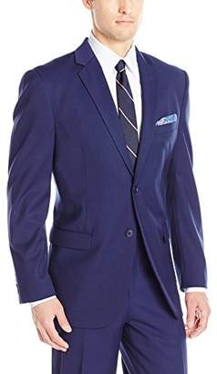Adolfo Men's Modern Fit Micro Tech Suit Jacket