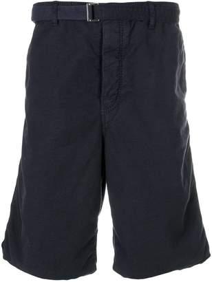 Sacai creased deck shorts