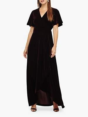 Kiki Velvet Dress, Merlot