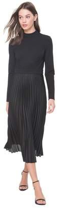 Juicy Couture Ponte & Georgette Midi Dress