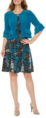 Perceptions Elbow Bell Sleeve Jacket Dress