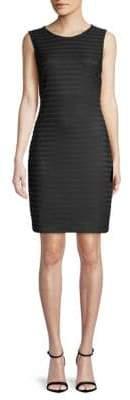 Calvin Klein Sheer Stripe Sheath Dress